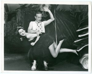 Roland Culver spanks Anne Vernon in The Little Hut October 7th 1953