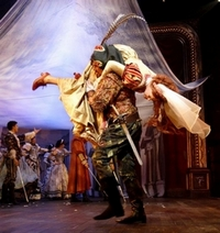 Alex Bourne and Hannah Waddingham in Kiss Me Kate