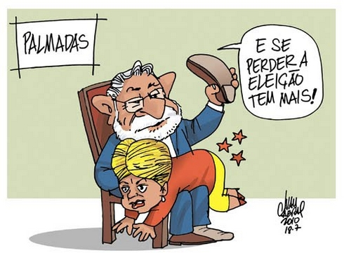 Charge2010-palmadas Brazilian election