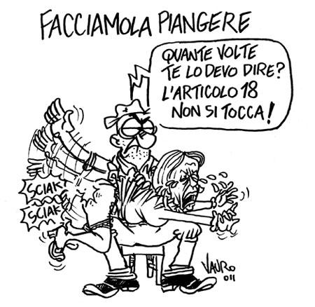 elsa fornero Italian political toon