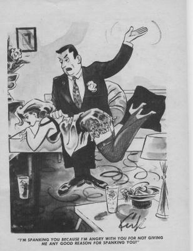 hot spanking cartoon - These days you are unlikely to find a cartoon featuring an adult female  being spanked in a newspaper or magazine, but back in the day, things were  very ...