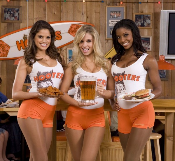 Hooters restaurant waitress