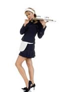 short skirt waitress