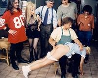 waitress spanking