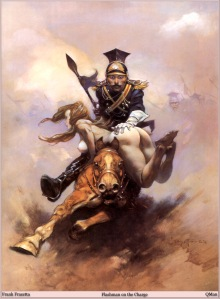 Flashman at the Charge by Frank Frazetta